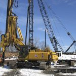 Heavy Machinery at Repowering Project Site