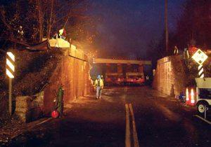 Technicians Completing Metro-North Railroad Bridge Renovation