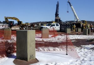 Heavy Machinery at Barbour Hill Substation Site