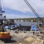 Workers Laying Supports for Shiplift Replacement
