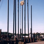 Large Marine Construction Posts for Pier Installation