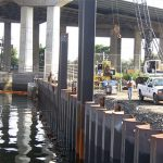 Base of Pier Replacement Being Installed