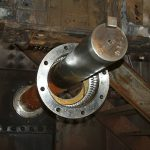rusted metal rod
