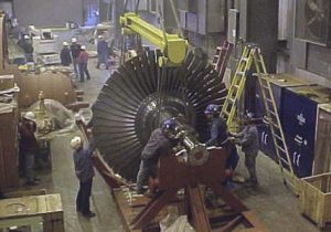 steam turbine construction in Milford, CT