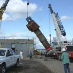 BAC crane operators carefully maneuvering large equipment in New Haven, CT