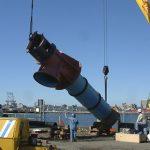 installing rebuilt saltwater pump at utility substation in Bew Haven, CT