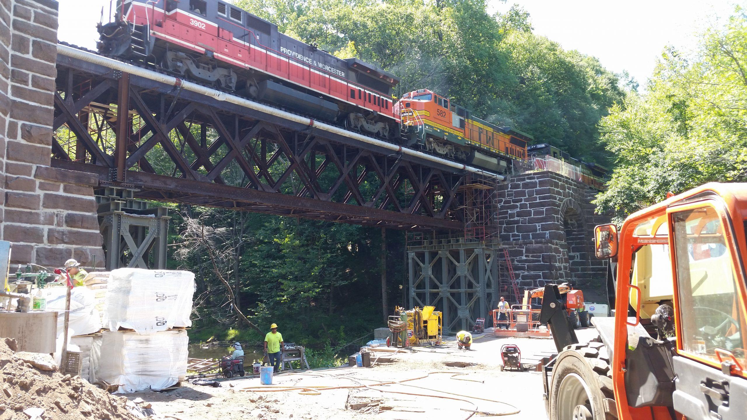 Train Bridge Construction Project